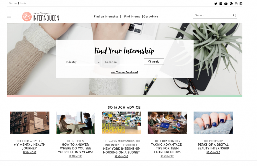 professional college blog examples
